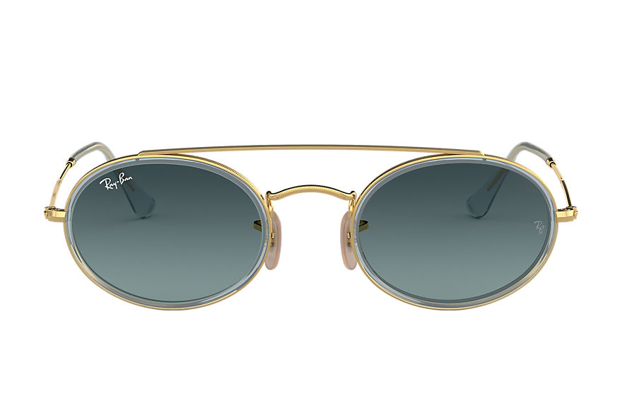 Ray-Ban  sunglasses RB3847N UNISEX 003 oval double bridge gold 8053672970142