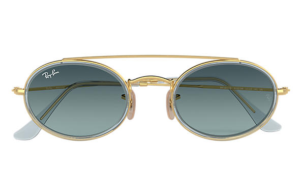 03b9b5069d Ray-Ban Oval Double Bridge RB3847N Gold - Metall - Gläser
