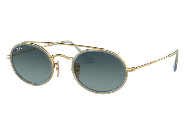 Ray-Ban 0RB3847N-OVAL DOUBLE BRIDGE Gold SUN