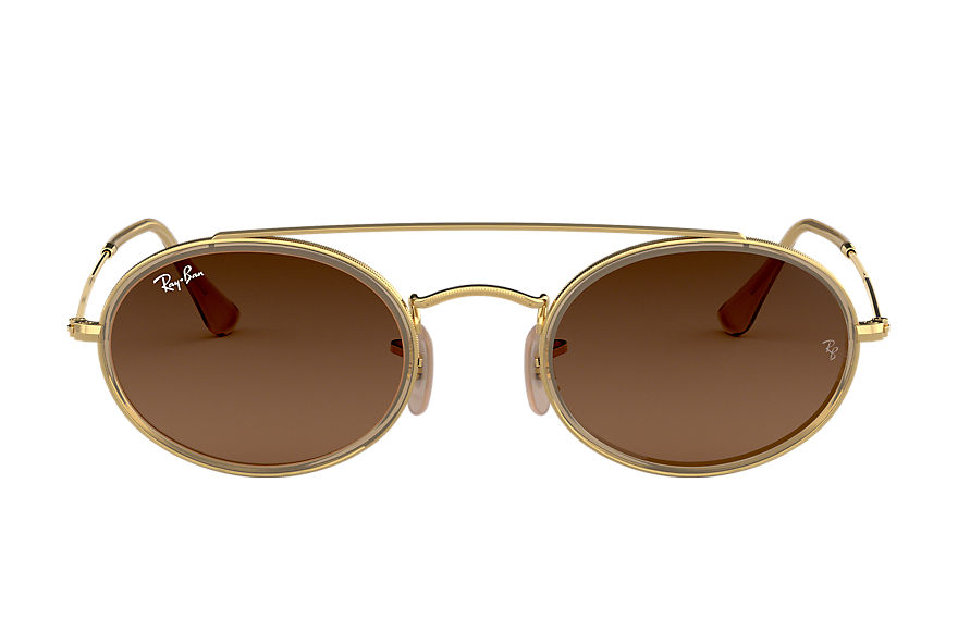 Ray-Ban  sunglasses RB3847N UNISEX 002 oval double bridge gold 8053672970159
