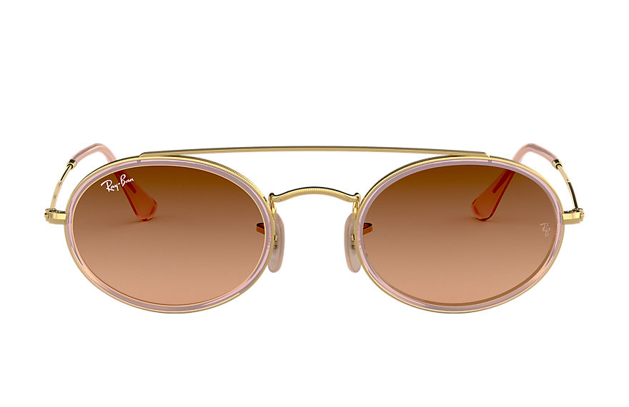 Ray-Ban  sunglasses RB3847N UNISEX 001 oval double bridge gold 8053672970166