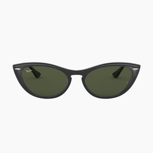 4c7be419ee54a5 Ray-Ban NINA Schwarz mit Grün Klassisch G-15 Gläsern