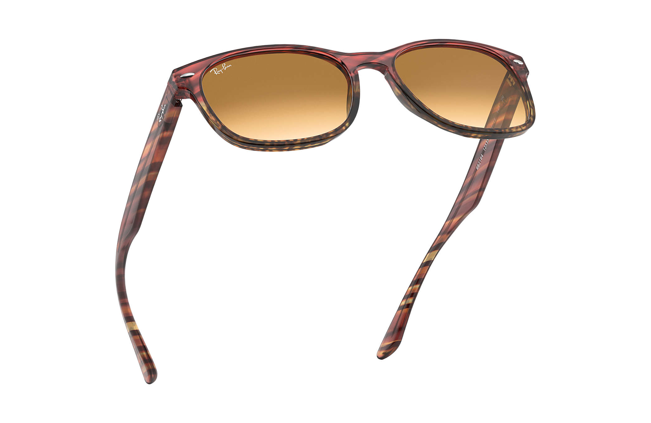 4ed4db0078 Ray-Ban RB2184 Striped Pink Gradient Beige - Acetate - Light Brown ...