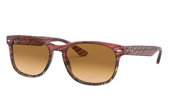 Ray-Ban 0RB2184-RB2184 Striped Pink Gradient Beige,Pink; Pink SUN