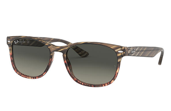 Ray-Ban 0RB2184-RB2184 Striped Grey Gradient Brown,Grey; Grey SUN