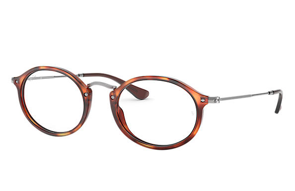 Ray-Ban 0RX2547V-RB2547V Rojo Havana,Habana; Gunmetal OPTICAL