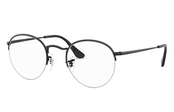 1af2db537c5dd Ray-Ban prescription glasses Round Gaze RB3947V Black - Metal ...