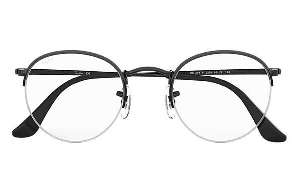 ef3bc91e5acf2 Óculos de grau Ray-Ban Round Gaze RB3947V Preto - Metal ...