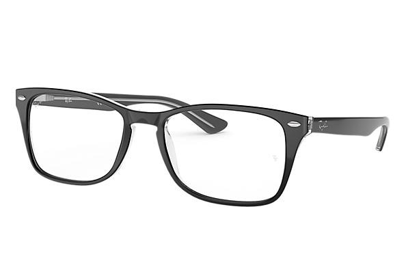 Ray-Ban 0RX5228M-RB5228M Black,Transparent OPTICAL
