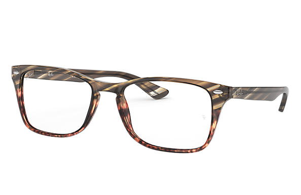 Ray-Ban 0RX5228M-RB5228M Striped Grey Gradient Brown,Havana; Havana OPTICAL
