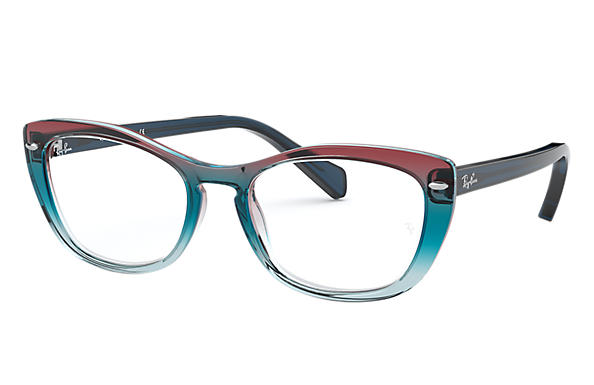 Ray-Ban 0RX5366-RB5366 Trigradient Blue and Red and light Blue,Blue; Transparent,Blue OPTICAL