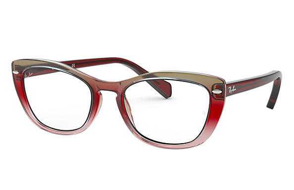 Ray-Ban 0RX5366-RB5366 Trigradient Burgundy and Grey and Pink,Bordeaux; Transparent,Bordeaux OPTICAL