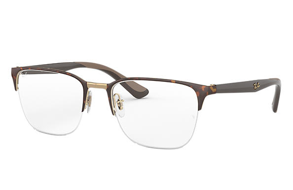 Ray-Ban 0RX6428-RB6428 Havana; Braun OPTICAL
