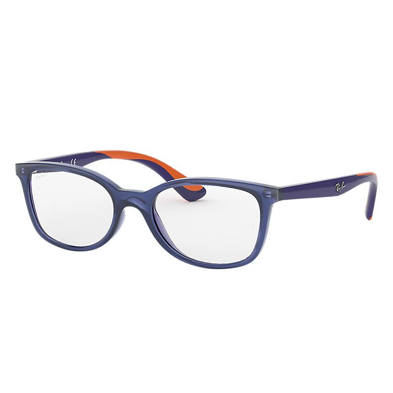 Image of Ray-Ban Junior Blue Eyeglasses - Rb1586