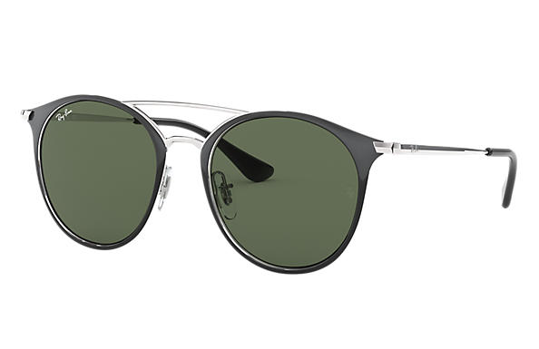 Ray-Ban RJ9545S Black with Green Classic lens