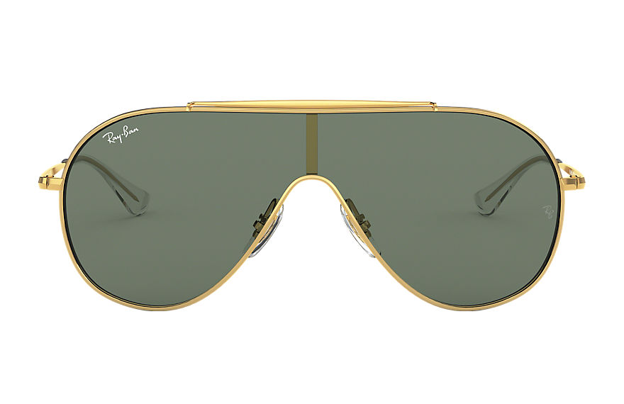 Ray-Ban WINGS JUNIOR Gold with Green Classic lens