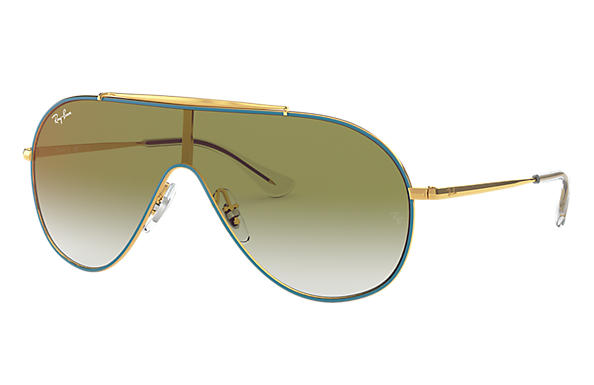 Ray-Ban Sunglasses WINGS JUNIOR Turquoise with Green Gradient Mirror lens