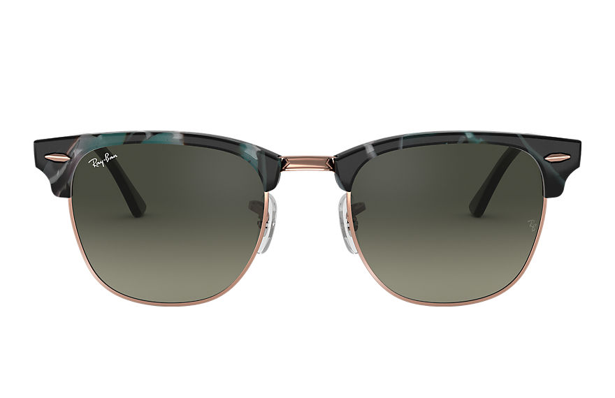 Ray-Ban  lunettes de soleil RB3016 UNISEX 025 clubmaster fleck spotted grey and green 8053672973303