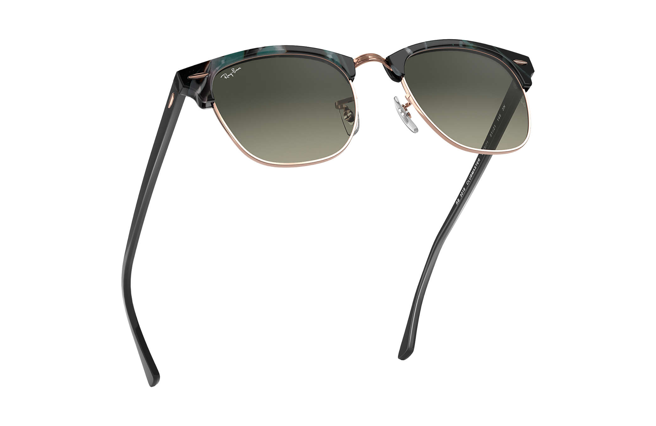 117af06df3b4e Ray-Ban Clubmaster Fleck RB3016 Spotted Grey and Green - Acetate ...