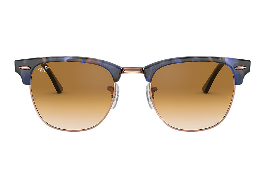 Ray-Ban  lunettes de soleil RB3016 UNISEX 026 clubmaster fleck spotted brown and blue 8053672973334