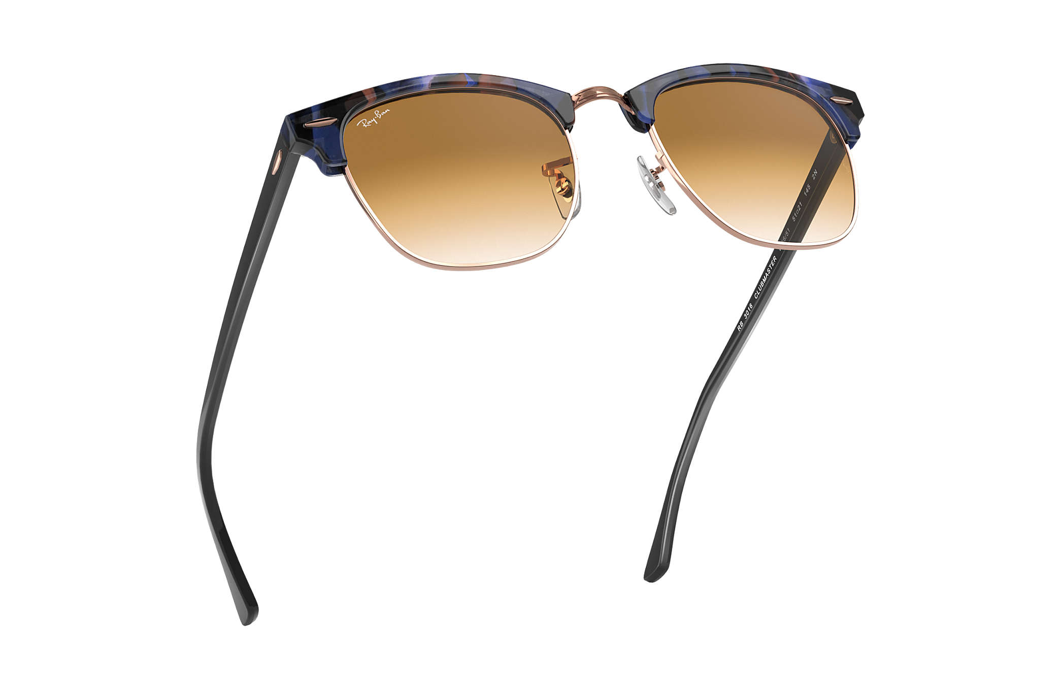 ... Ray-Ban 0RB3016-CLUBMASTER FLECK Spotted Brown and Blue,Tartaruga   Preto SUN ... 2ce30c2226