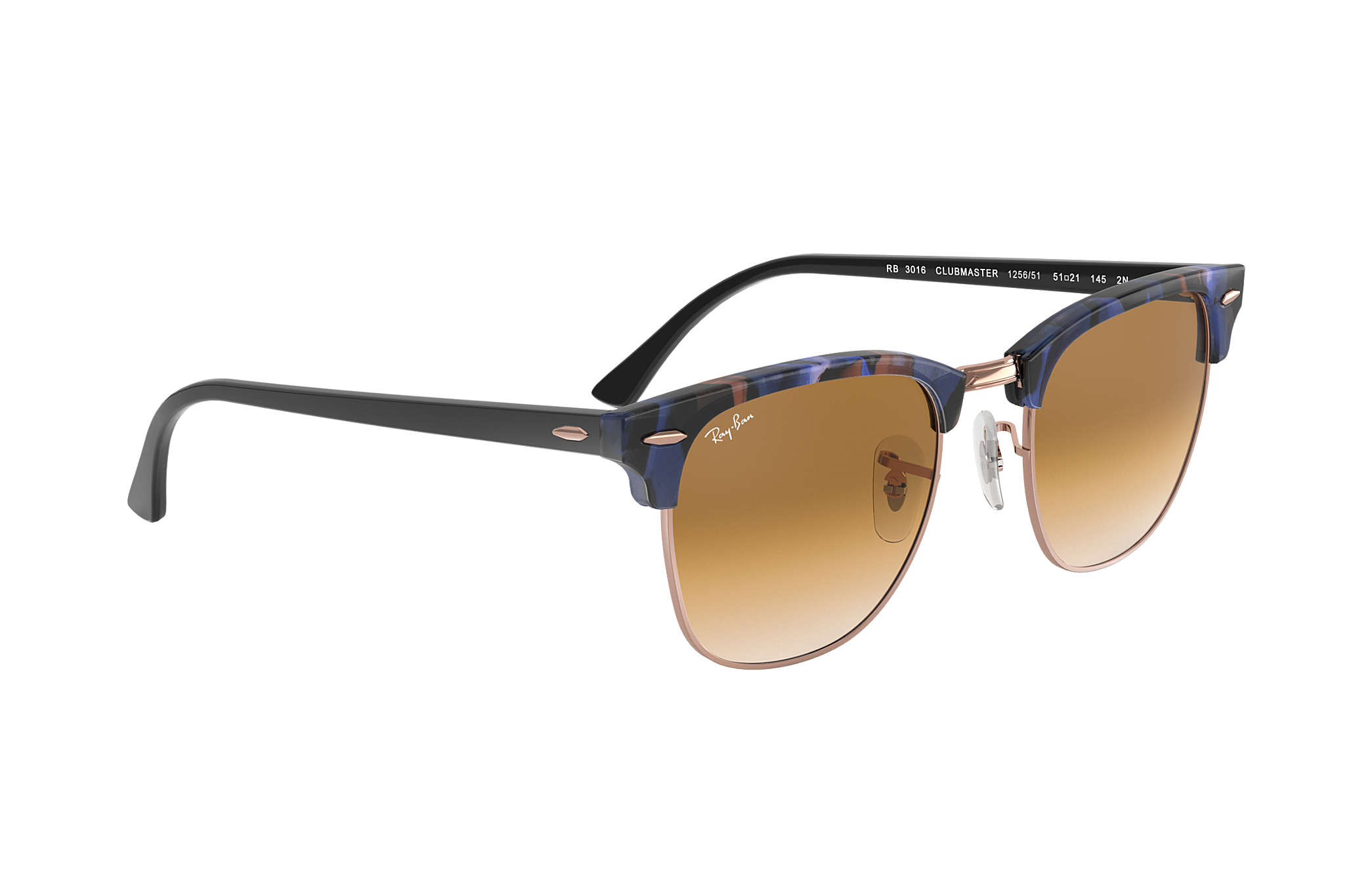 ... Ray-Ban 0RB3016-CLUBMASTER FLECK Spotted Brown and Blue,Tartaruga   Preto SUN ef978c99ac