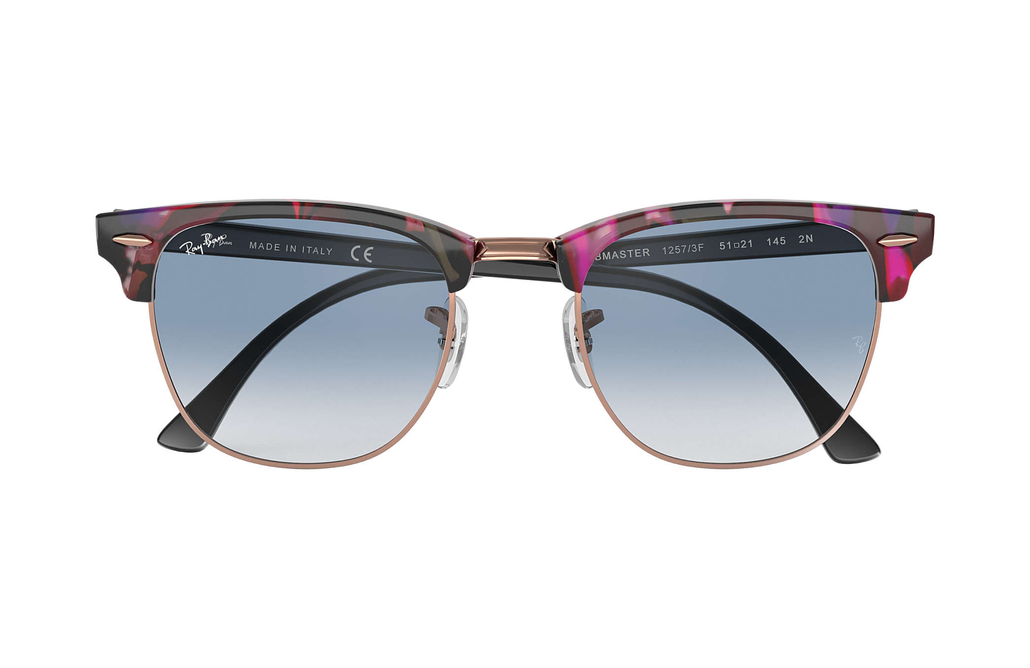 693672b72793c Ray-Ban Clubmaster Fleck RB3016 Spotted Grey and Violet - Acetate ...