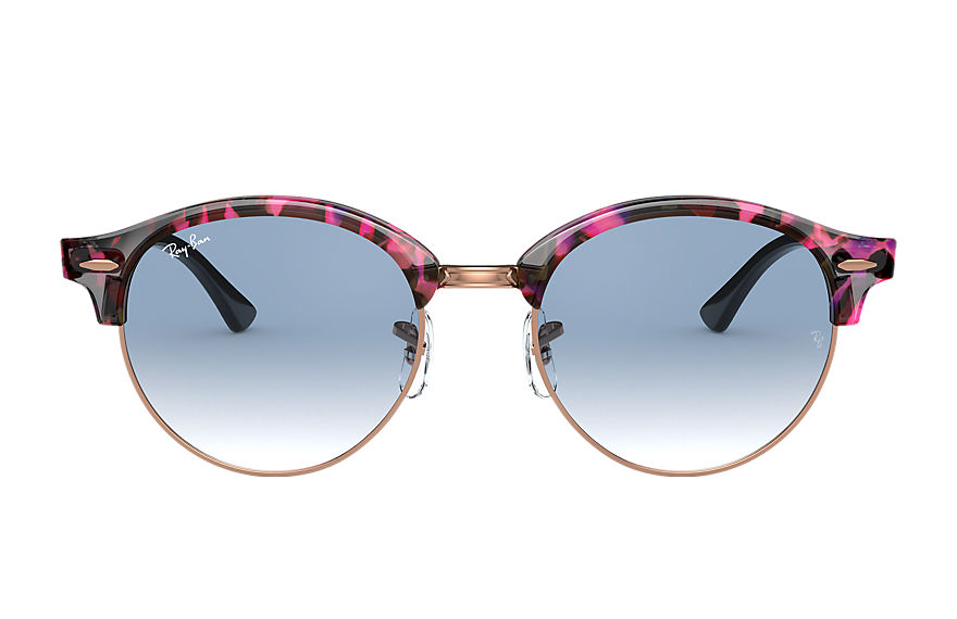 Ray-Ban		 CLUBROUND FLECK Spotted Grey and Violet met brillenglas Lichtblauw Gradiënt
