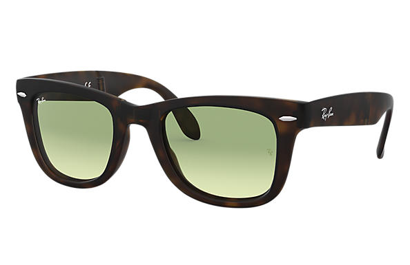 Ray-Ban Sunglasses WAYFARER FOLDING GRADIENT Tortoise with Green Gradient lens