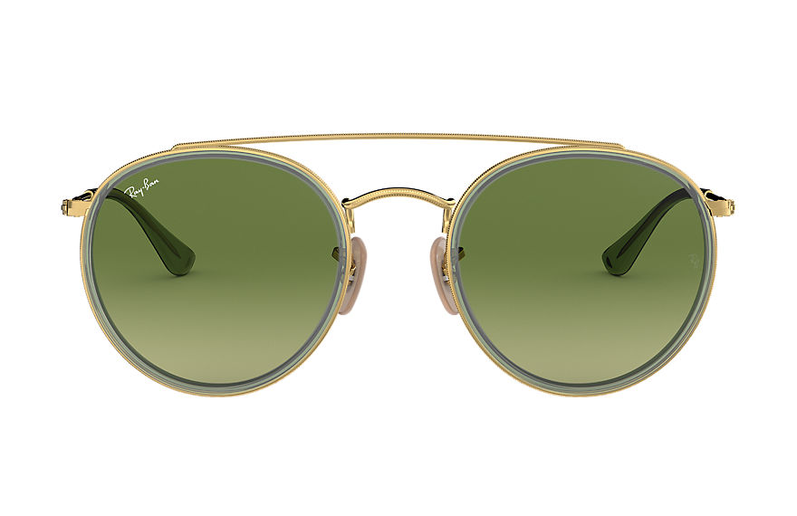 Ray-Ban  oculos de sol RB3647N UNISEX 005 round double bridge ouro 8053672974836