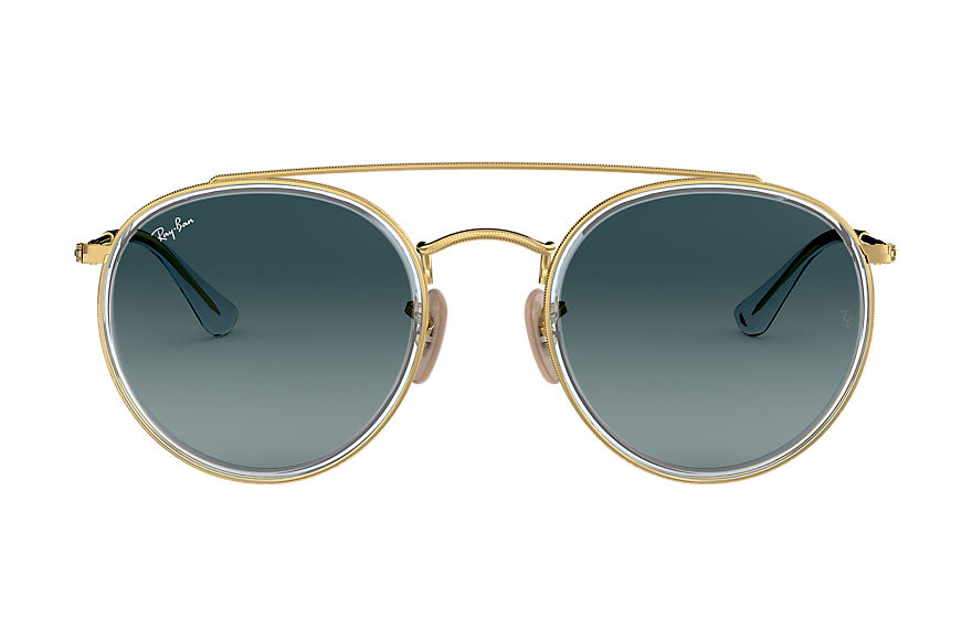 Ray-Ban  oculos de sol RB3647N UNISEX 004 round double bridge ouro 8053672974843
