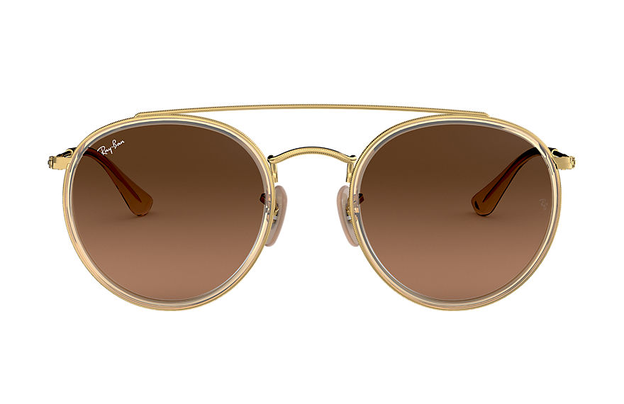 Ray-Ban  oculos de sol RB3647N UNISEX 003 round double bridge ouro 8053672974850