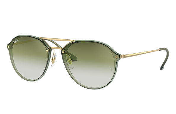 Ray-Ban Sunglasses BLAZE DOUBLE BRIDGE Green with Green Grey Gradient lens