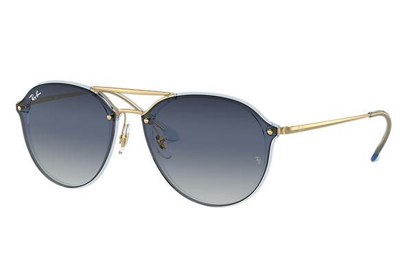 Ray-Ban 0RB4292N-BLAZE DOUBLE BRIDGE Light Blue; Gold SUN