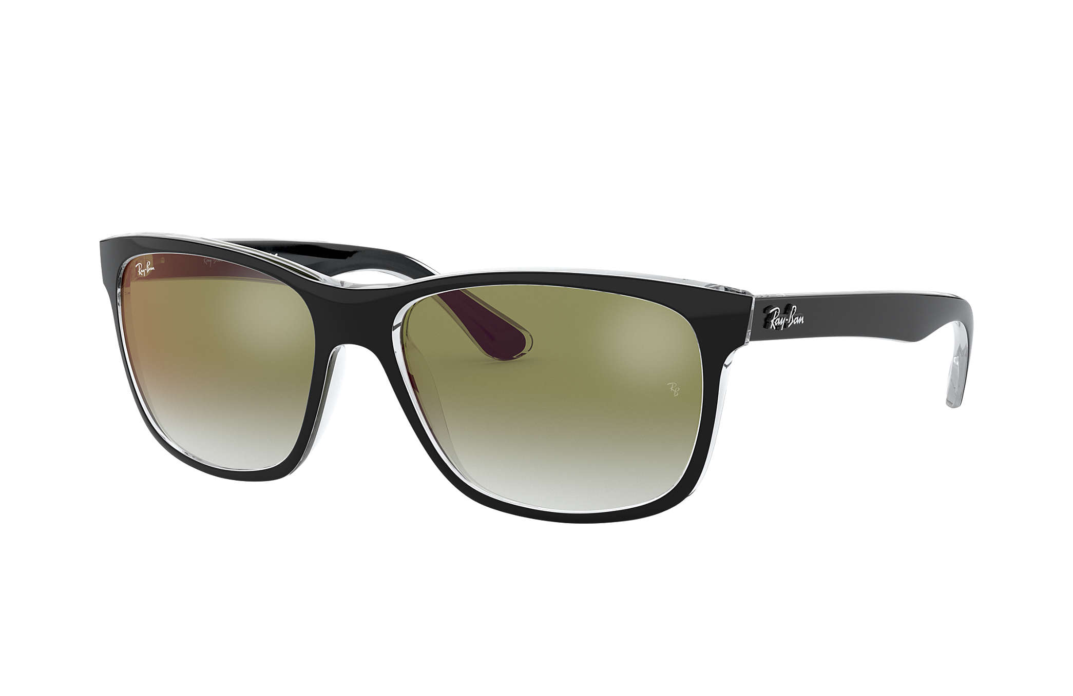db34e81e4a Ray-Ban RB4181 Black - Injected - Green Lenses - 0RB41816039W057 ...