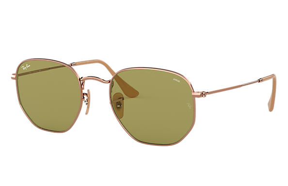 Ray-Ban Gafas-de-sol HEXAGONAL EVOLVE Cobre con lente Verde Photochromic Evolve