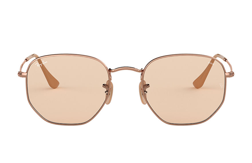 Ray-Ban  sunglasses RB3548N UNISEX 009 hexagonal washed evolve copper 8053672975536