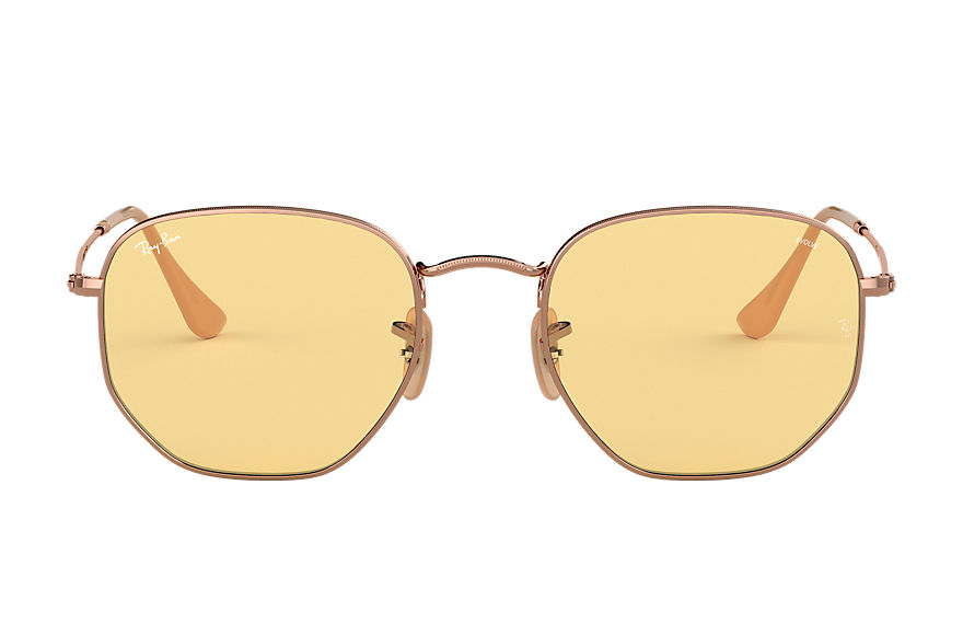 Ray-Ban Occhiali-da-sole HEXAGONAL WASHED EVOLVE Rame con lente Giallo Evolve fotocromatica