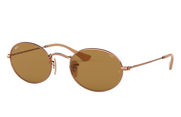 Ray-Ban OVAL EVOLVE Cuivre avec verres Marron Photochromic Evolve