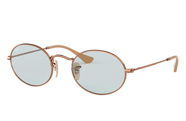 Ray Ban Oval Washed Evolve RB3547N Cobre Metal Lentes