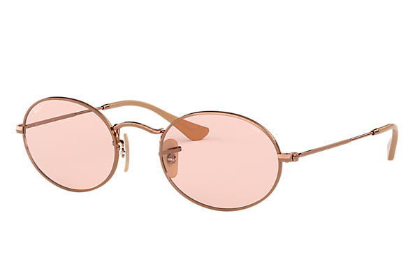 4a70287c2f9d0 Ray-Ban Oval Evolve RB3547N Rame - Metallo - Lenti Rosa ...