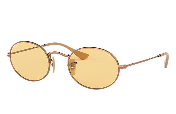 Ray-Ban 0RB3547N-OVAL WASHED EVOLVE Kupfer,Bronze-Kupfer; Bronze-Kupfer SUN