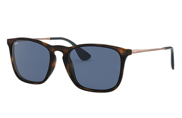 Ray-Ban CHRIS Tortoise with Blue Classic lens