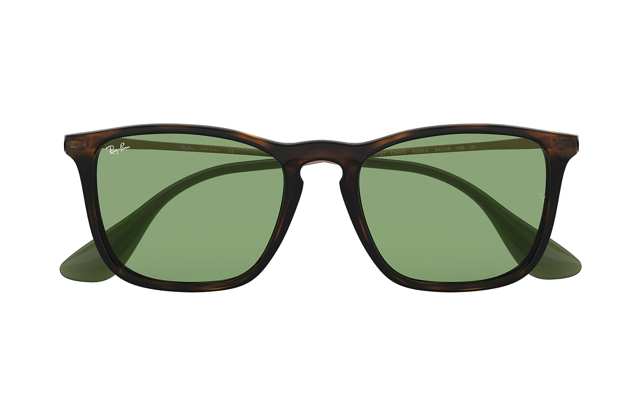 8f1362581f26 Ray-Ban Chris RB4187 Tortoise - Injected - Green Lenses ...