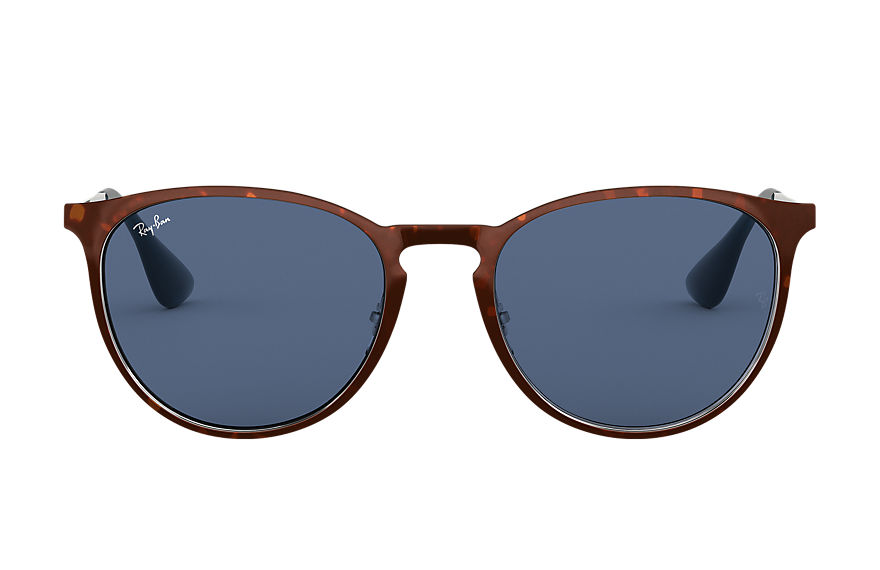 Ray-Ban ERIKA METAL Tortoise with Dark Violet Classic lens