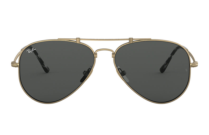 Ray-Ban  sunglasses RB8125 UNISEX 001 aviator titanium antique gold 8053672977479