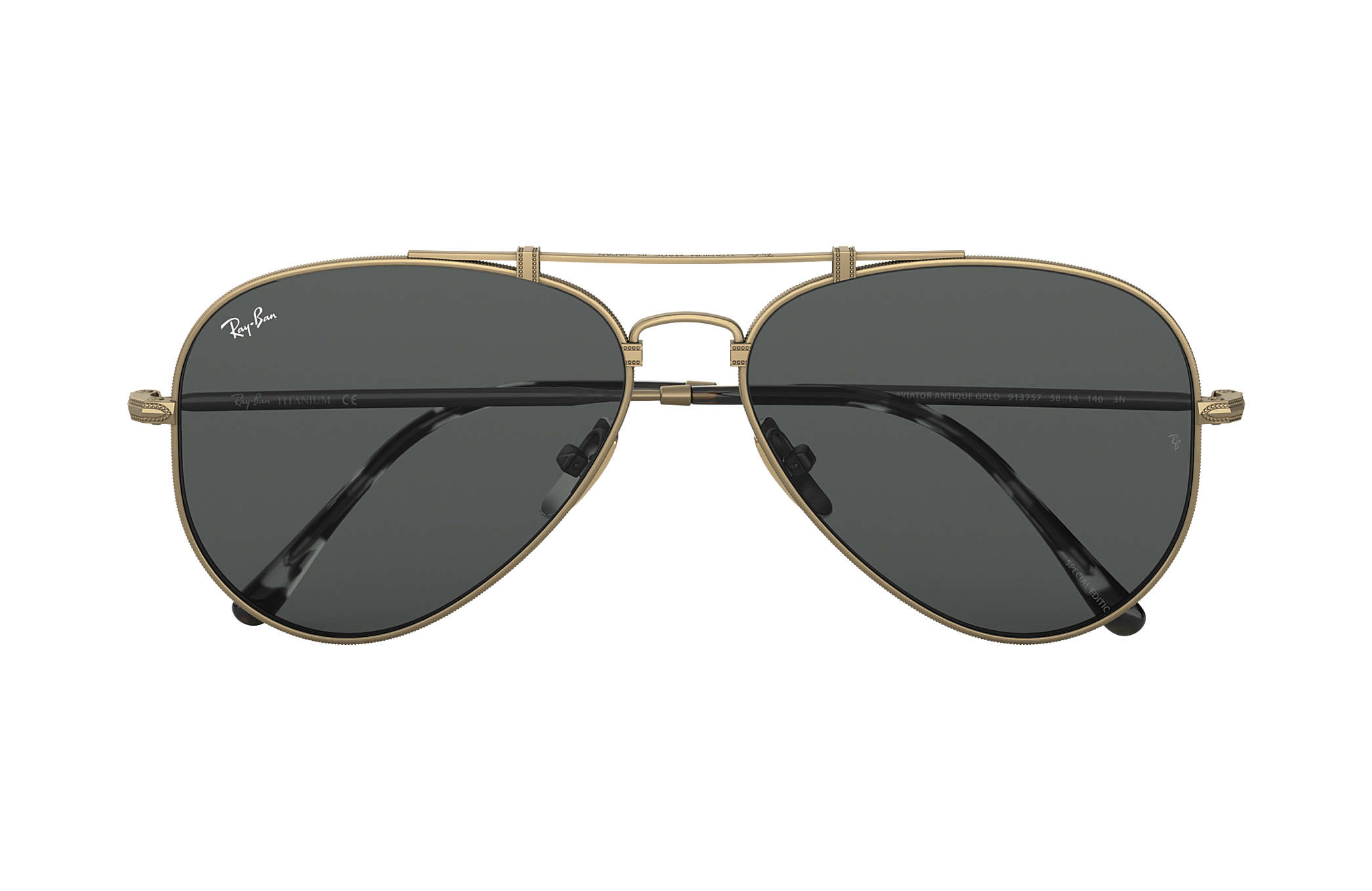 68136715dcea9 Ray-Ban Aviator Titanium RB8125 Antique Gold - Titanium - Grey ...