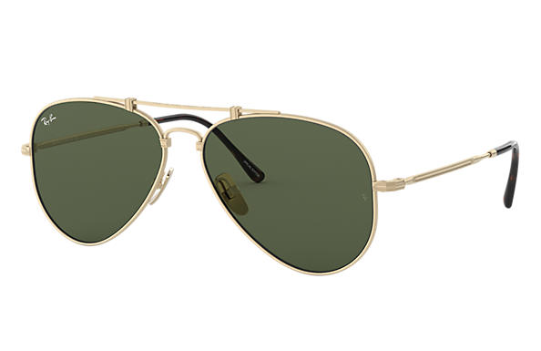 Ray-Ban 0RB8125-AVIATOR TITANIUM White Gold SUN
