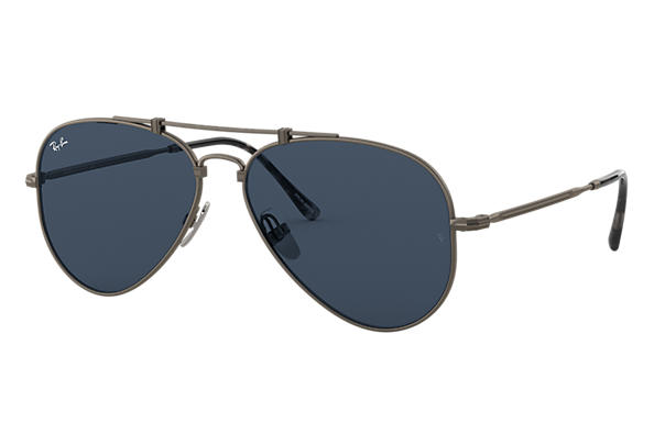 Ray-Ban 0RB8125-AVIATOR TITANIUM Estaño SUN