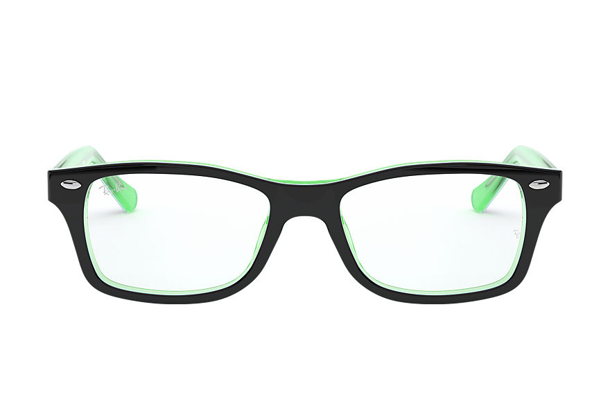 Ray-Ban  eyeglasses RY1531 CHILD 005 rb1531 black on green 8053672978223